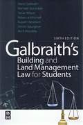 Cover of Galbraith's Building and Land Management Law for Students