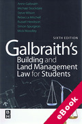 Cover of Galbraith's Building and Land Management Law for Students (eBook)