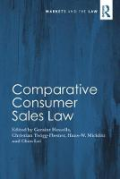 Cover of Comparative Consumer Sales Law