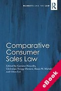 Cover of Comparative Consumer Sales Law (eBook)