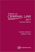 Cover of Adams on Criminal Law Student Edition