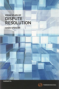 Cover of Principles of Dispute Resolution