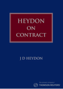 Cover of Heydon On Contract: The Genral Part
