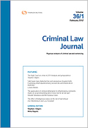 Cover of Criminal Law Journal: Bound Volumes