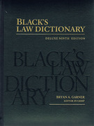 Cover of Black's Law Dictionary: Deluxe