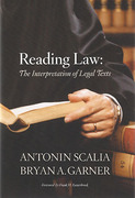 Cover of Reading Law: The Interpretation of Legal Texts