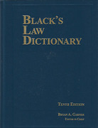 Cover of Black's Law Dictionary 10th ed