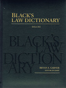 Cover of Black's Law Dictionary Deluxe