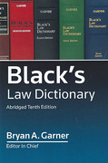 Cover of Black's Law Dictionary Abridged