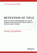 Cover of Retention of Title: How to Keep Ownership of your Goods