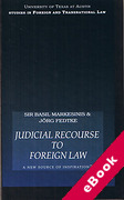 Cover of Judicial Recourse to Foreign Law: A New Source of Inspiration? (eBook)