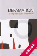 Cover of Defamation: Comparative Law and Practice (eBook)