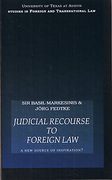 Cover of Judicial Recourse to Foreign Law: A New Source of Inspiration?