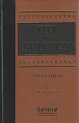 Cover of Kerr on Injunctions 6th ed