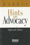 Cover of Harris's Hints on Advocacy: The Conduct of Cases Civil and Criminal
