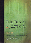 Cover of The Digest of Justinian: Volume 1 - Books 1-15