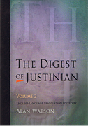 Cover of The Digest of Justinian: Volume 2 - Books 16-29
