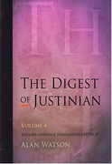 Cover of The Digest of Justinian: Volume 4 - Books 42-50