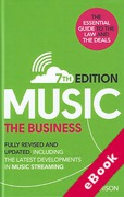 Cover of Music The Business: Including the Latest Developments in Music Streaming (eBook)