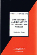 Cover of Bankruptcy and Dilligence etc (Scotland) Act 2007