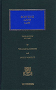 Cover of Scottish Land Law 3rd ed: Volume 1