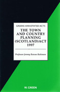 Cover of The Town & Country Planning Act (Scotland) 1997
