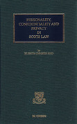 Cover of Personality, Confidentiality and Privacy in Scots Law