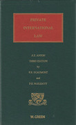 Cover of Anton's Private International Law