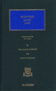 Cover of Scottish Land Law 3rd ed: Volume 1 with 1st Supplement