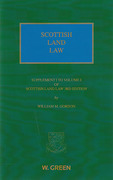 Cover of Scottish Land Law 3rd 1st Supplement