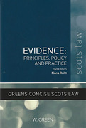Cover of Evidence: Principles, Policy and Practice