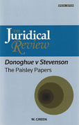 Cover of Juridical Review: Donoghue v Stevenson: The Paisley Papers