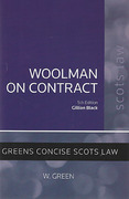 Cover of Woolman on Contract