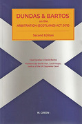 Cover of Dundas & Bartos on the Arbitration (Scotland) Act 2010