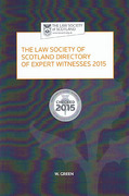 Cover of The Law Society of Scotland Directory of Expert Witnesses 2015