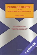 Cover of Dundas & Bartos on the Arbitration (Scotland) Act 2010 (Book & eBook Pack)