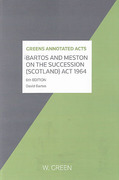 Cover of Bartos and Meston On the Succession (Scotland) Act 1964