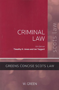 Cover of Criminal Law: Green's Concise Scots Law