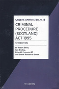 Cover of Greens Annotated Acts Criminal Procedure (Scotland) Act 1995