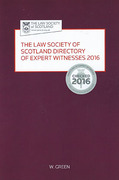 Cover of The Law Society of Scotland Directory of Expert Witnesses 2016