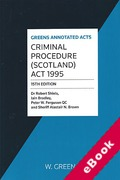 Cover of Criminal Procedure (Scotland) Act 1995 (eBook)