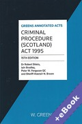 Cover of Criminal Procedure (Scotland) Act 1995 (Book & eBook Pack)