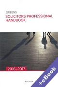 Cover of Greens Solicitors Professional Handbook 2016-2017 (Book & eBook Pack)