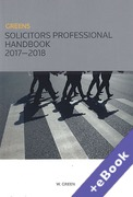 Cover of Greens Solicitors Professional Handbook 2017-2018 (Book & eBook Pack)