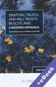 Cover of Drafting Trusts and Will Trusts in Scotland (Book & eBook Pack)