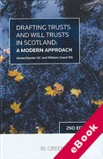 Cover of Drafting Trusts and Will Trusts in Scotland (eBook)