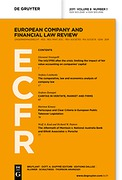 Cover of European Company and Financial Law Review: Print Only