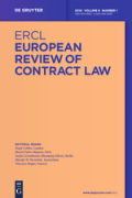 Cover of European Review of Contract Law: Print Only