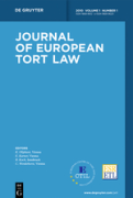 Cover of Journal of European Tort Law: Print Only