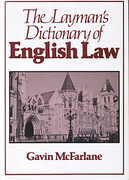Cover of The Layman's Dictionary of English Law